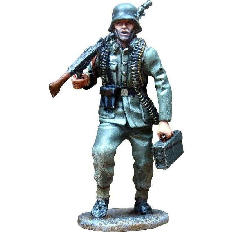 Spanish volunteers Blue division Volkhov 1942 MG gunner