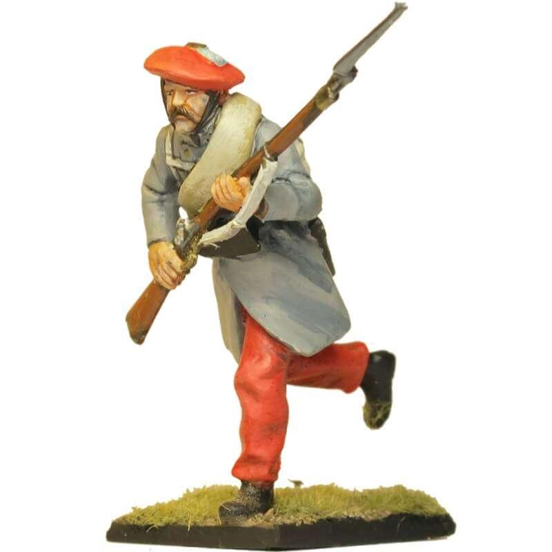 Carlist infantry soldier Oriamendi battle