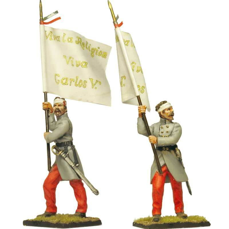 Bandera infantería carlista Batalla de Oriamendi