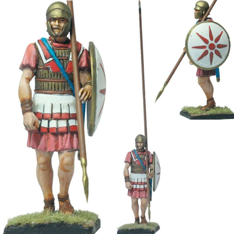 Macedonian infantryman Attic helmet