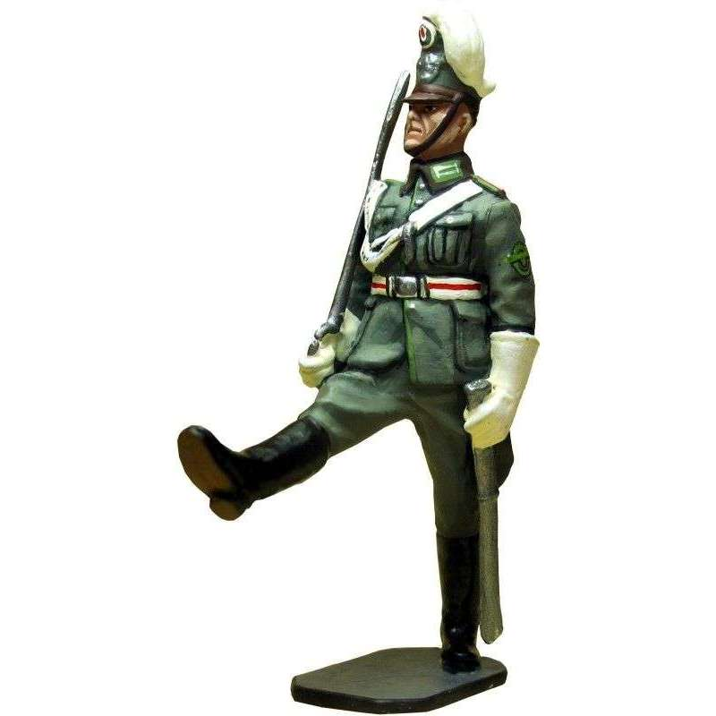 German schutzpolizei on parade 1940 officer
