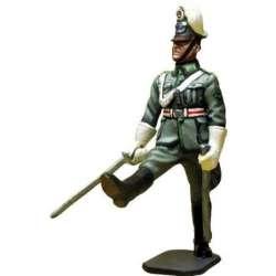 WW 174 German schutzpolizei on parade 1940 officer 2