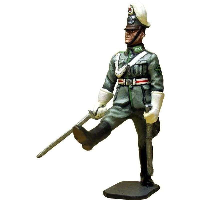 WW 174 Oficial 2 policía alemana en desfile