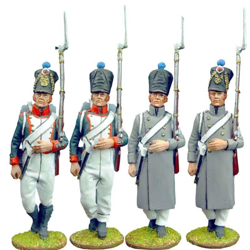 Set 1 Fusileros infantería línea francesa