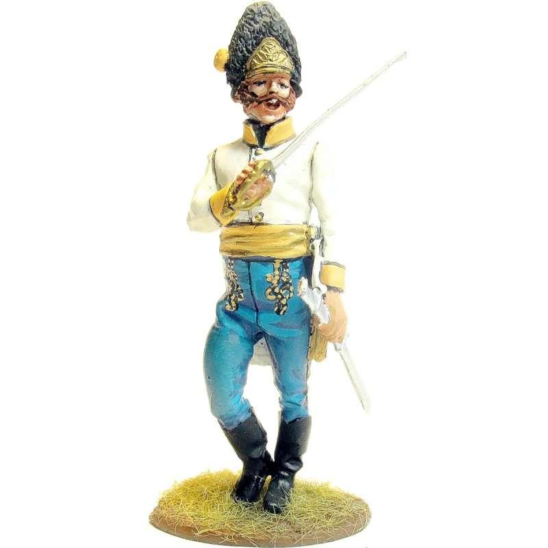 Hungarian regiment Hiller grenadiers officer