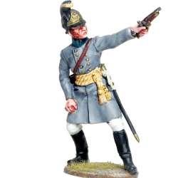 Oficial fusilero Regimiento infantería Austriaco Lindenau 1805 disparando
