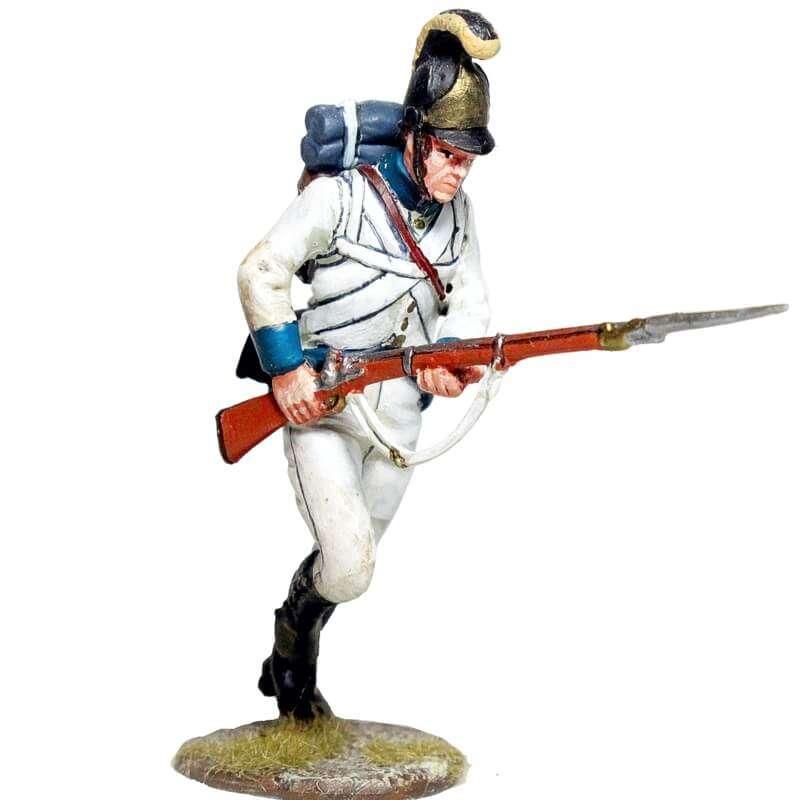 Fusilero Regimiento infantería Austriaco Lindenau 1805 corriendo