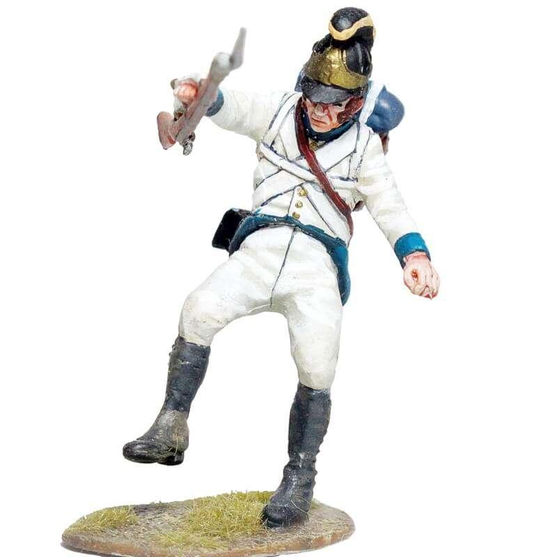 Fusilero Regimiento infantería Austriaco Lindenau 1805 caído