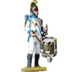 Tambor fusileros Regimiento infantería Austriaco Lindenau 1805