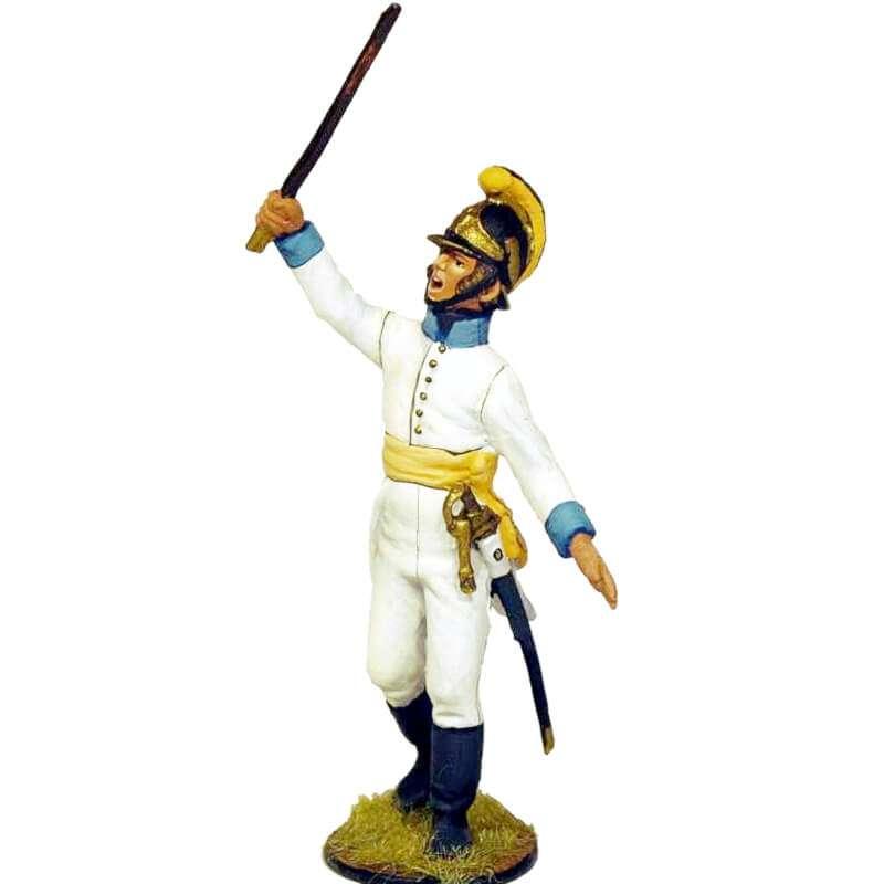 Oficial fusilero Regimiento infantería Austriaco Lindenau 1805