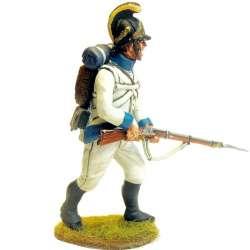 Regimiento infantería Austriaco Lindenau 1805 fusilero marchando