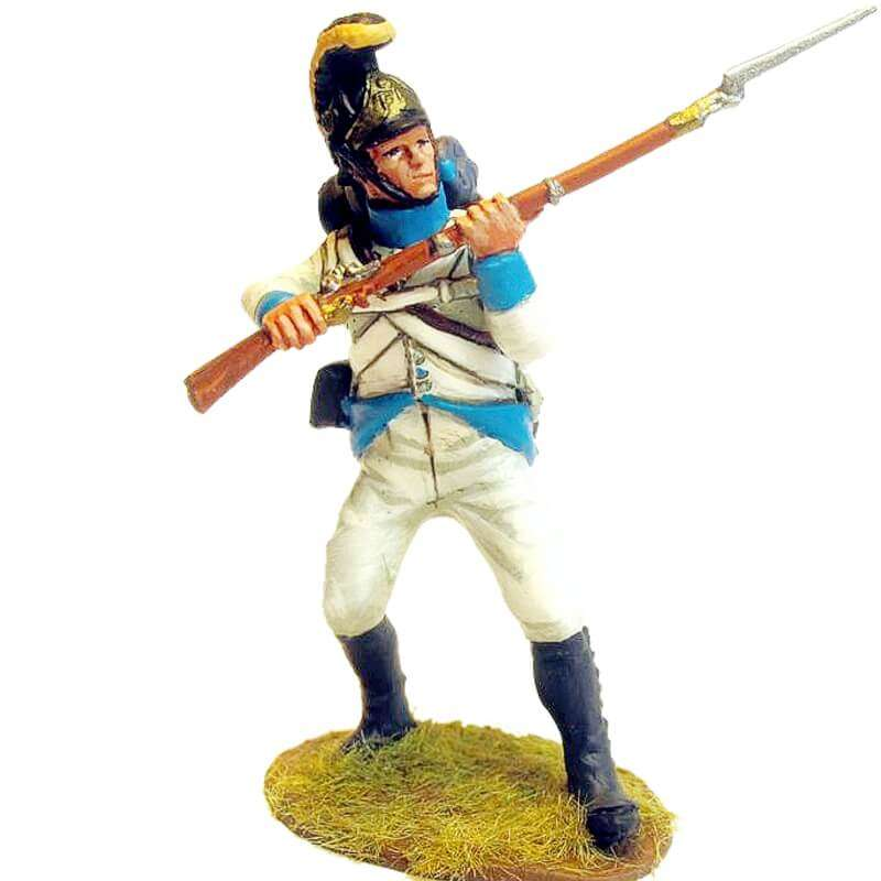 Regimiento infantería Austriaco Lindenau 1805 fusilero defendiendo