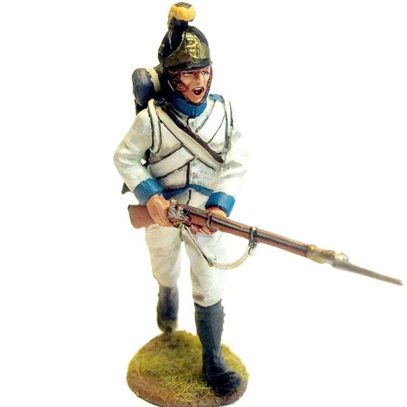 Regimiento infantería Austriaco Lindenau 1805 fusilero marchando al ataque
