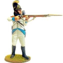 Regimiento infantería Austriaco Lindenau 1805 fusilero de pie disparando