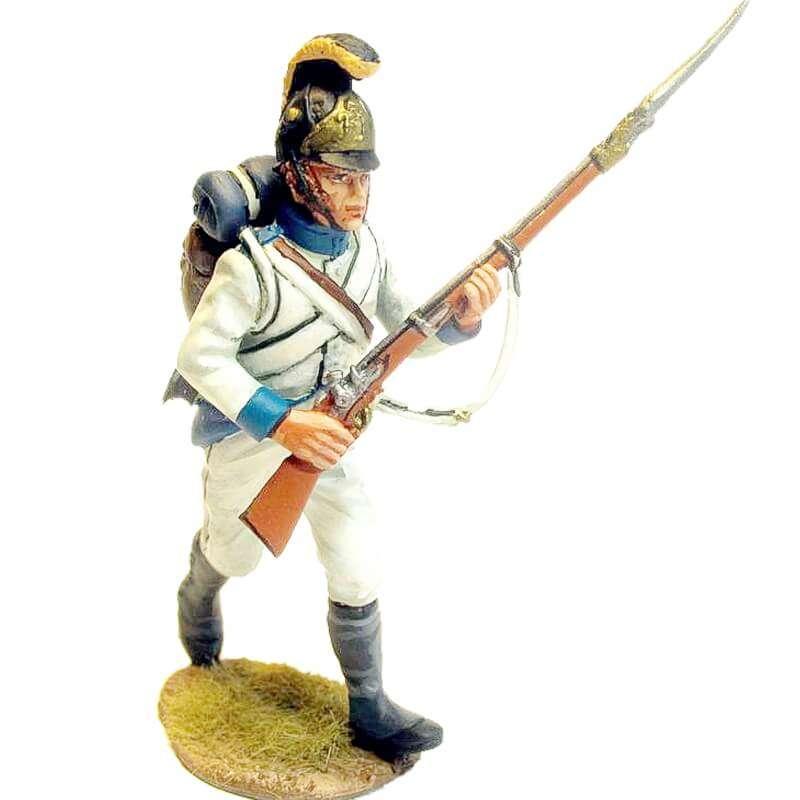 Regimiento infantería Austriaco Lindenau 1805 fusilero corriendo