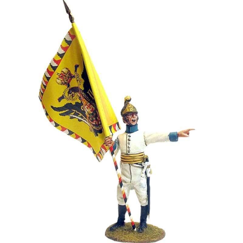 Bandera Regimiento infantería Austriaco Lindenau 1805