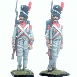 French imperal guard 3rd grenadiers regiment exhollandais marching NCO