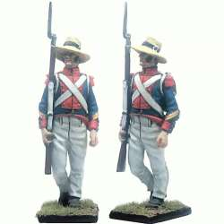 13 th Demi-brigade polish legion Saint-Domingue 1802 NCO marching