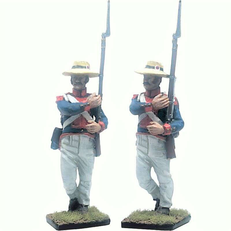 13 th Demi-brigade polish legion Saint-Domingue 1802 marching