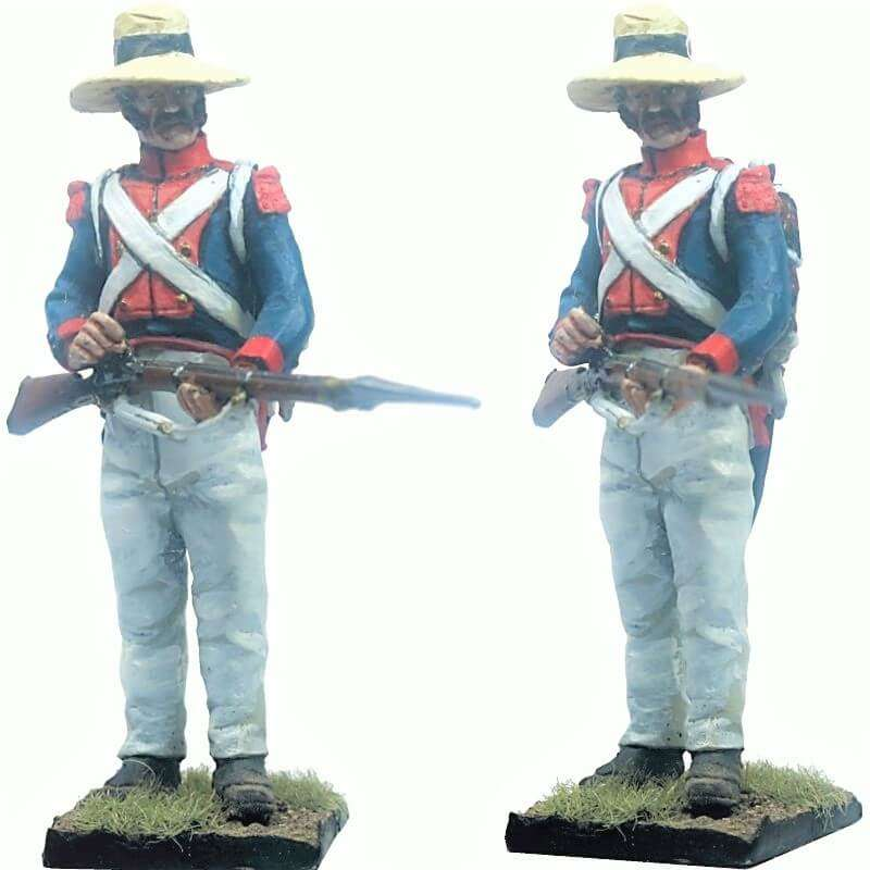 13 th Demi-brigade polish legion Saint-Domingue 1802 reloading