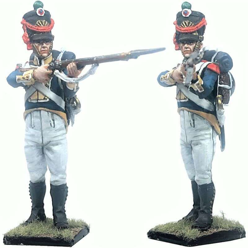 Vistula legion grenadier firing 1808