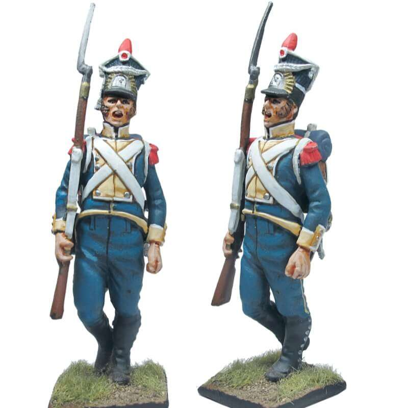 NP 243 FRENCH IMP GUARD GREND OFFICER SALUTING
