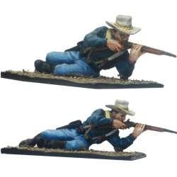 Soldado disparando carabina Séptimo caballería Fort Apache