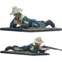 Sargento disparando carabina Séptimo caballería Fort Apache