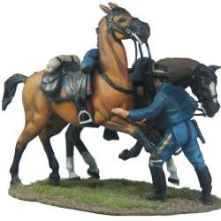 Holding the horses 7th cavalry