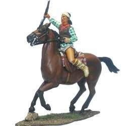 Guerrero apache galopando Winchester