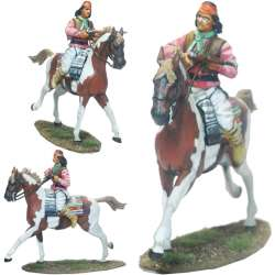 Guerrero apache galopando carabina