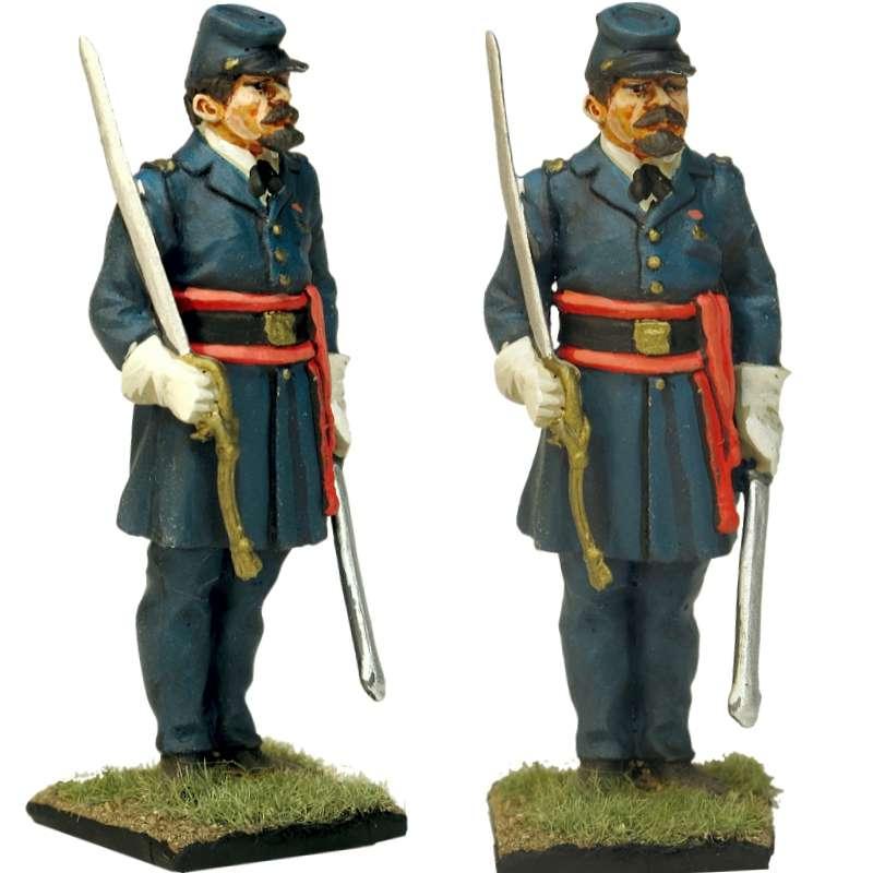 20 th Regimiento infantería Maine Fredericksburg Oficial