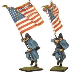 Bandera 28 th Regimiento infantería Massachusetts Fredericksburg
