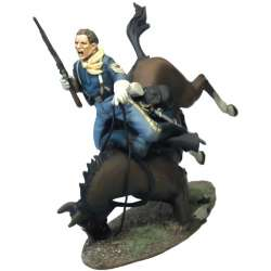 US Cavalry sergeant horse down