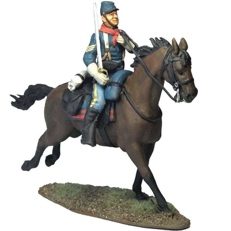 Sergeant Festus Mulcahy by horse