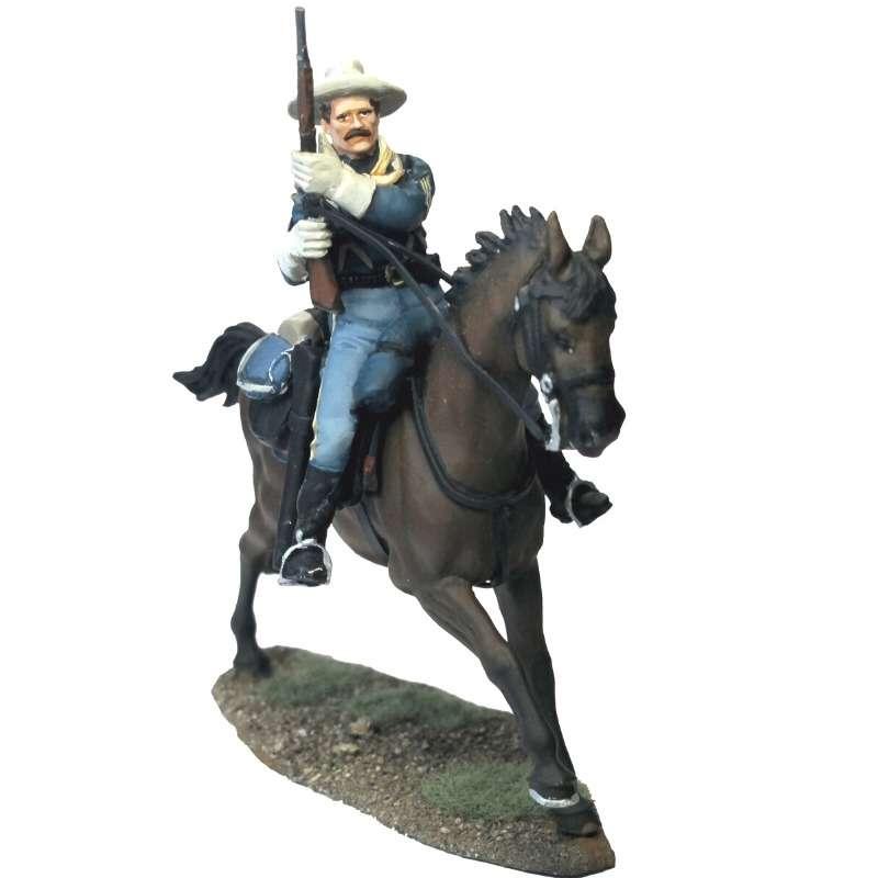 US cavalry sergeant reloading carbine