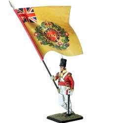 104th foot New Brunswick regiment Canada 1810 standard bearer