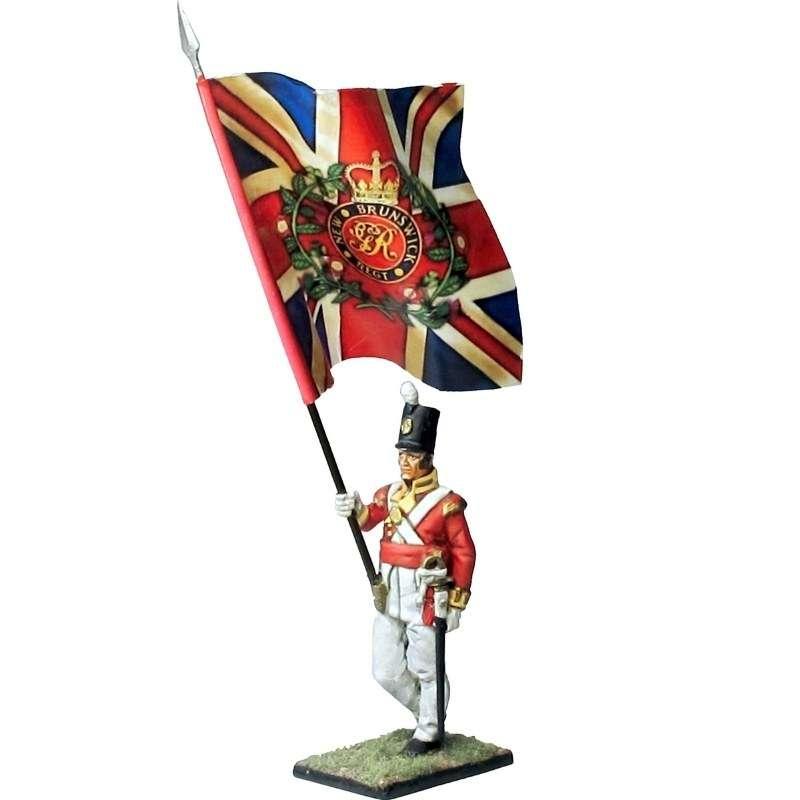 104th foot New Brunswick King´s color Canada 1810 standard bearer