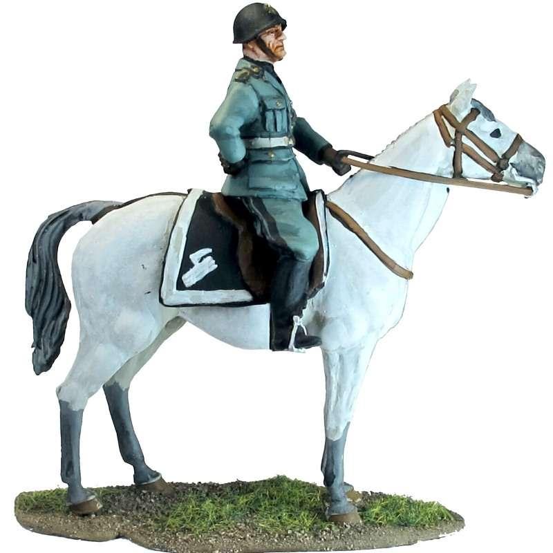 Mounted Benito Mussolini
