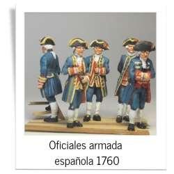 Oficiales armada española 1760