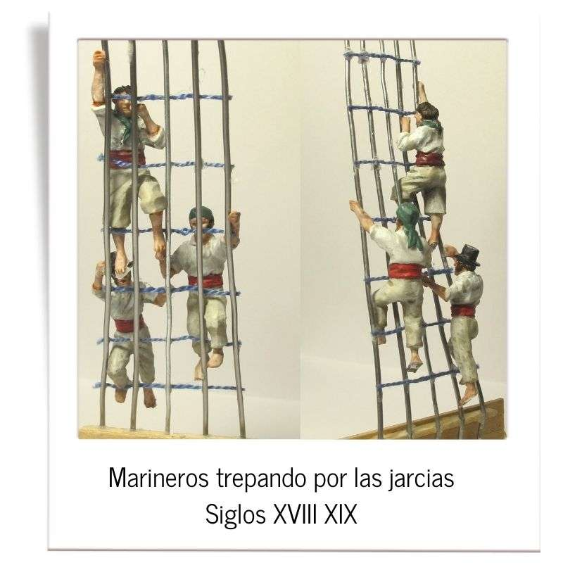 Sailors climbing the rigging 18th and 19th centuries