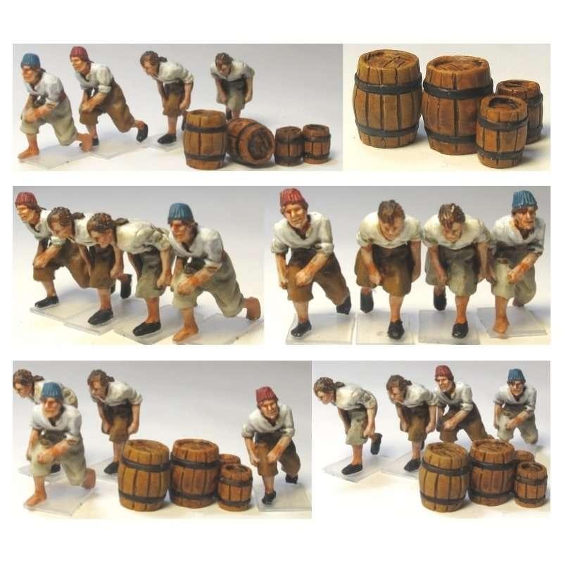 Sailors below deck