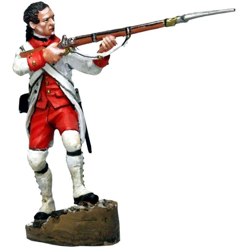 Fusilero regimiento Navarra disparando