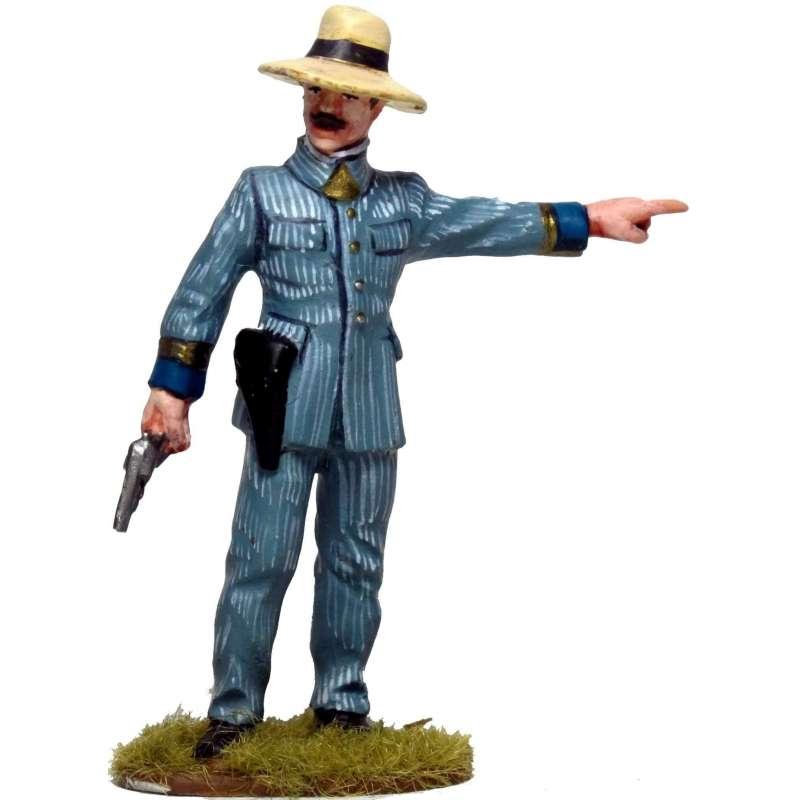 CUBA 011 Oficial español con pistola Cuba 1898