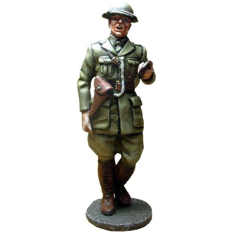 Oficial regimiento North Staffordshire