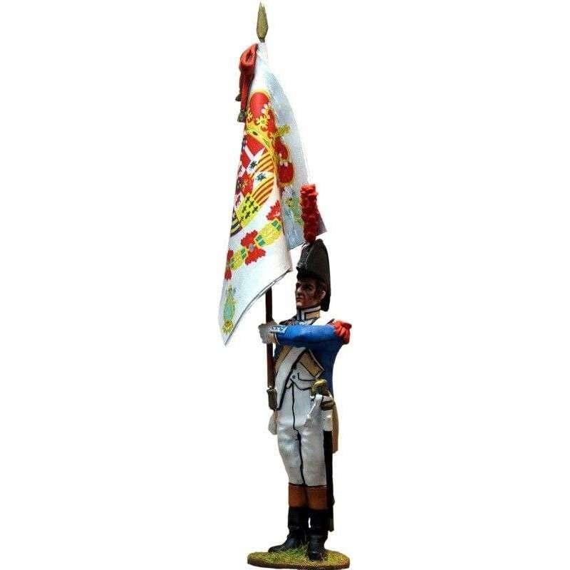 Spanish Irlanda regiment standard bearer