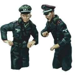 WW 195 toy soldier torsos comandantes carro