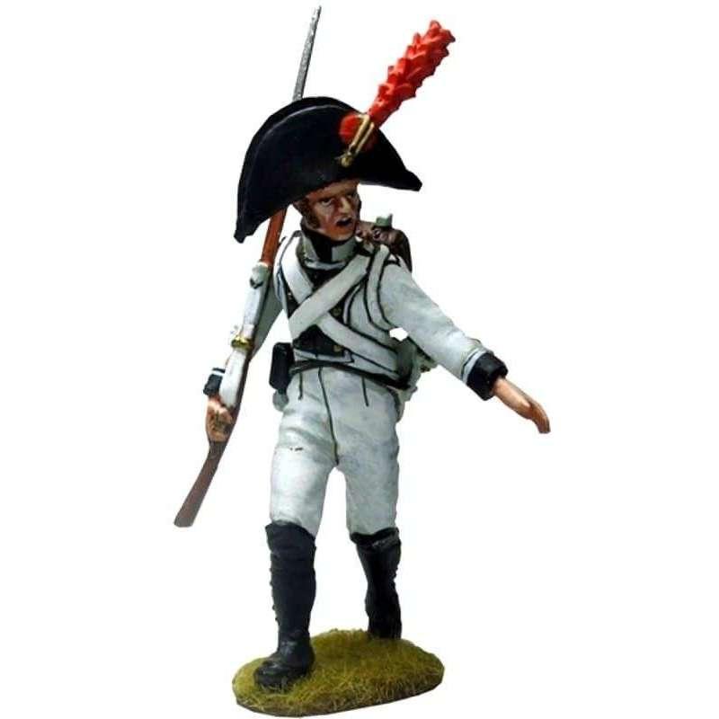 Sargento marchando Regimiento Africa 1808 Bailén