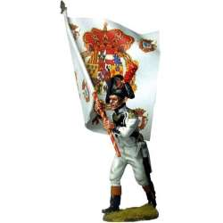 NP 553 toy soldier áfrica regiment standard bearer