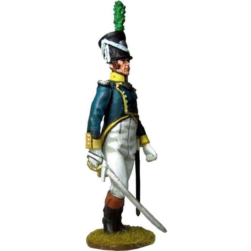 Oficial Primer regimiento infantería Barcelona 1807